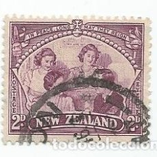 Sellos: SELLO USADO DE NUEVA ZELANDA DE 1946- LA FAMILIA REAL- YVERT 275- VALOR 2 PENIQUES. Lote 235793475