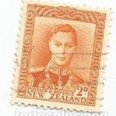 Sellos: 2 SELLOS USADOS DE NUEVA ZELANDA DE 1947-REY JORGE VI- YVERT 285- VALOR 2 PENIQUES. Lote 235794450