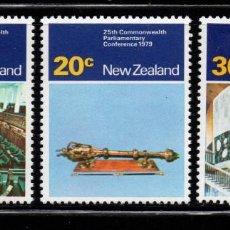 Sellos: NUEVA ZELANDA 757/59** - AÑO 1979 - CONFERENCIA DE PARLAMENTARIOS DE LA COMMOMWEALTH. Lote 237927850