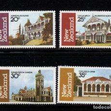 Sellos: NUEVA ZELANDA 811/14** - AÑO 1982 - ARQUITECTURA DE NUEVA ZELANDA. Lote 237928200