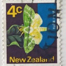 Sellos: SELLO DE NUEVA ZELANDA 4 C - 1970 - MARIPOSA - USADO SIN SEÑAL DE FIJASELLOS. Lote 238292970