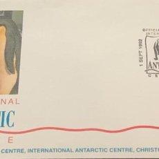 Sellos: O) 1992 NUEVA ZELANDA, CENTRO ANTÁRTICO INTERNACIONAL, SEAL WEDDELL, APERTURA OFICIAL INTERNATIONAL. Lote 242019715