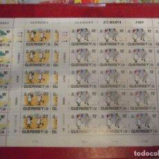 Sellos: TRES HOJAS COMPLETAS DE GUERNSEY 1989. Lote 242964865
