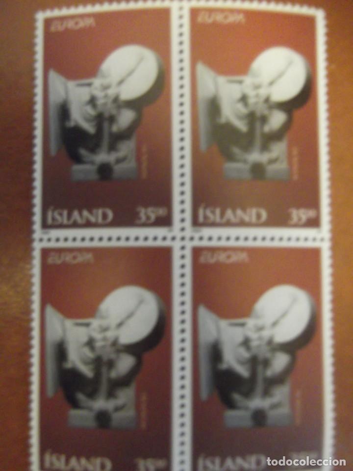 Sellos: Lote con dos boque de 4 sellos Islandia - Foto 2 - 242965285