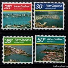 Sellos: NUEVA ZELANDA 770/73** - AÑO 1980 - PUERTOS DE NUEVA ZELANDA. Lote 246535505