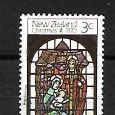 Sellos: VIDRIERA IGLESIA PRESBITERIANA DE INVEREAGILL. NEW ZEALAND. SELLO AÑO 1970. Lote 251942385
