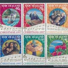 Sellos: NUEVA ZELANDA 1997 IVERT 1554/9 *** NAVIDAD. Lote 253279305