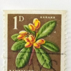 Sellos: SELLO DE NUEVA ZELANDA 1 D - 1960 - PLANTAS - USADO SIN SEÑAL DE FIJASELLOS. Lote 261697095