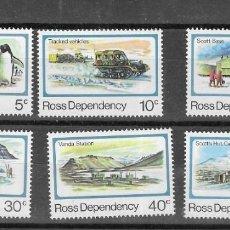 Sellos: NUEVA ZELANDA ROSS DEPENDENCIA Nº 15 AL 20 (**). Lote 269845363