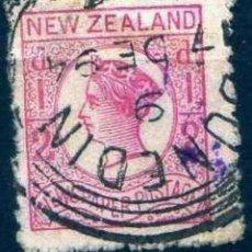 Sellos: GIROEXLIBRIS.-NEW ZEALAND -1873 -1875 QUEEN VICTORIA CATÁLOGO YVERT N.º 38 (º) SELLOS USADOS. Lote 276995423