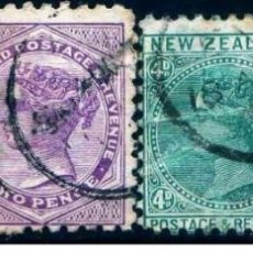 Sellos: GIROEXLIBRIS.-NEW ZEALAND -1873 -1888 QUEEN VICTORIA LOTE DE CONJUNTO... SELLOS USADOS. Lote 276996568