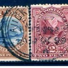 Sellos: GIROEXLIBRIS.-NEW ZEALAND -1898 LANDSCAPES & BIRDS LOTE DE CONJUNTO..SELLOS USADOS LOS DE LA IMÁGEN. Lote 276996758