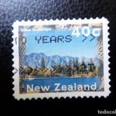 Sellos: NUEVA ZELANDA, 1996, PAISAJES, LAGO MATHESON, YVERT 1463. Lote 288996743