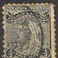 Sellos: NUEVA ZELANDA // YVERT 67 // 1891-95 ... USADO. Lote 295696023