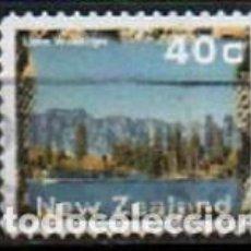 Sellos: NUEVA ZELANDA IVERT Nº 1462, LAGO WAKATIPU, USADO. Lote 296690748