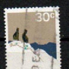 Sellos: NUEVA ZELANDA IVERT Nº 550, PARQUE NACIONAL DEL MONTE COOK, USADO. Lote 296698678
