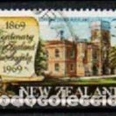 Sellos: NUEVA ZELANDA IVERT Nº 485, CENTENARIO DE LA SOCIEDAD DE DERECHO DE NUEVA ZELANDA, USADO. Lote 296703313