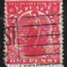 Sellos: NUEVA ZELANDA IVERT Nº 134 (AÑO 1909), IMAGEN ALEGORICA, USADO. Lote 296712133