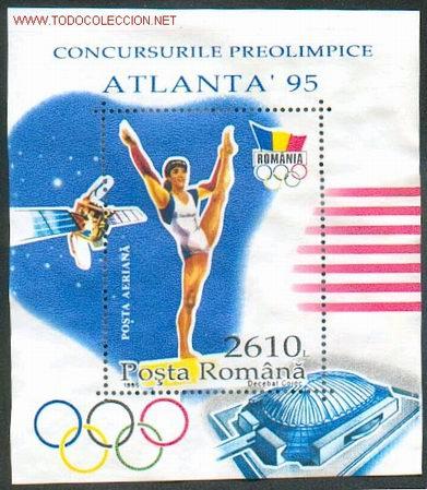 RUMANIA - DEPORTES - OLIMPIADA DE ATLANTA (Sellos - Temáticas - Olimpiadas)
