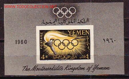 YEMEN REINO HB 2** - AÑO 1961 - JUEGOS OLIMPICOS DE ROMA (Sellos - Temáticas - Olimpiadas)