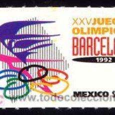 Sellos: MEJICO 1992 1419 AROS OLIMPICOS 1V. B-92 IV . Lote 4246458