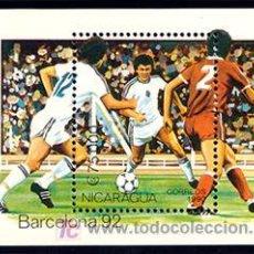 Sellos: NICARAGUA 1990 HB197 FUTBOL HB B-92 II . Lote 4248792