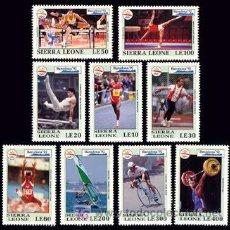 Sellos: SIERRA LEONA 1992 1519/27 VELA/GIMNASIA/DISCO 9V. B-92 III . Lote 4274595