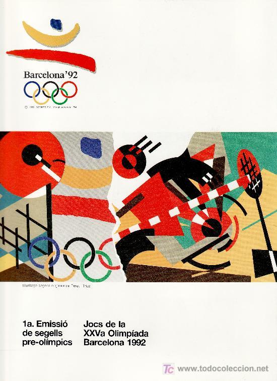 ESPAÑA ALBUM OFICIAL COOB 92, BARCELONA 1992 SERIES PRE-OLIMPICAS (Sellos - Temáticas - Olimpiadas)