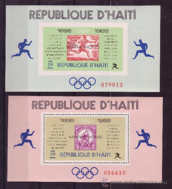 HAITI HB 26/27A*** - AÑO 1968 - CAMPEONES OLIMPICOS DE MARATON (Sellos - Temáticas - Olimpiadas)
