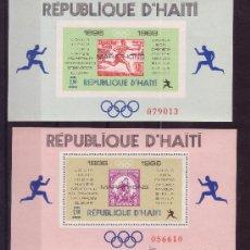 Sellos: HAITI HB 26/27A*** - AÑO 1968 - CAMPEONES OLIMPICOS DE MARATON. Lote 27321992