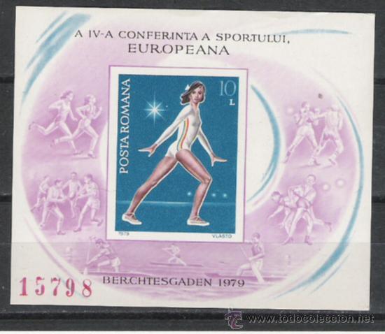 TEMA OLIMPIADAS HOJA BLOQUE EUROPEISTICA (Sellos - Temáticas - Olimpiadas)