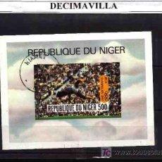 Sellos: DEPORTES, NIGER, 1980, L162, HOJA-BLOQUE USADA. Lote 17641917