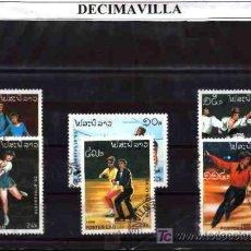 Sellos - DEPORTES, LAOS, 1992, L065, SERIE USADA Y COMPLETA - 17854796