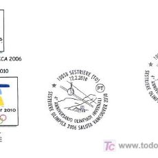 Sellos: OLIMPIADAS - DE TORINO 2006 A VANCOUVER 2010. SESTRIERE, ITALIA, 2010. Lote 18140593