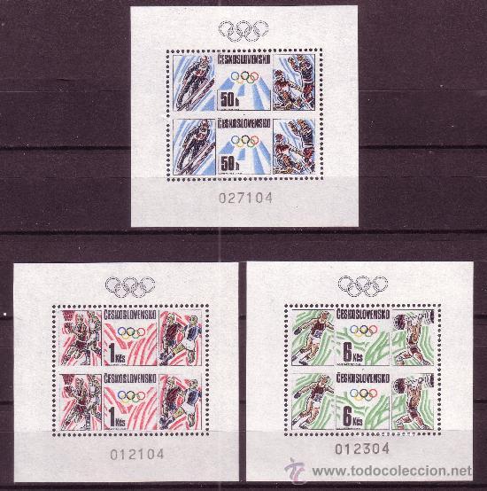 CHECOSLOVAQUIA 2752/54 HB** - AÑO 1988 - JUEGOS OLÍMPICOS DE SEUL Y CALGARY (Sellos - Temáticas - Olimpiadas)