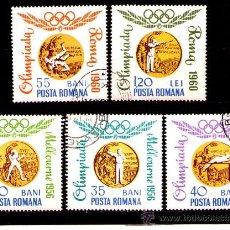 Sellos: LOTE SELLOS RUMANIA TEMATICA DEPORTES / JUEGOS /OLIMPIADAS (AHORRA GASTOS COMPRANDO MAS SELLO. Lote 18367711