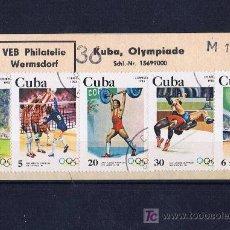 Sellos: CUBA OLIMPIADAS DE LOS ANGELES USADOS. Lote 18781772