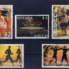 Sellos: GUAYANA OLIMPIADAS KOREA 88 BARCELONA 92 USADOS . Lote 18782359