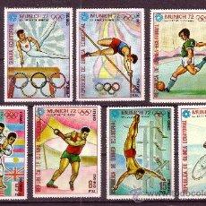 Timbres: GUINEA ECUATORIAL 23 Y AÉREO 9*** - AÑO 1972 - JUEGOS OLÍMPICOS DE MUNICH 72 - GIMNASIA - FÚTBOL . Lote 21045759