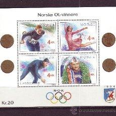 Timbres: NORUEGA HB 14** - AÑO 1990 - JUEGOS OLIMPICOS DE INVIERNO DE LILLEHAMMER. Lote 26734883