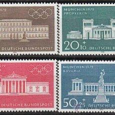 Sellos: ALEMANIA IVERT Nº 487/90, JUEGOS OLIMPICOS 1972, NUEVO (SERIE COMPLETA). Lote 25222851