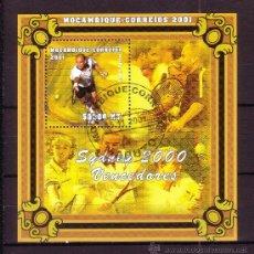 Timbres: MOZAMBIQUE HB 48 - AÑO 2001 - VENCEDORES DE LOS JUEGOS OLIMPICOS DE SYDNEY - TENIS - ANDRE AGASI. Lote 25483246