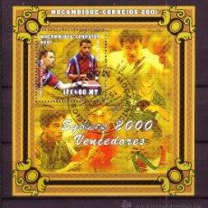 Sellos: MOZAMBIQUE HB 53 - AÑO 2001 - VENCEDORES DE LOS JUEGOS OLIMPICOS DE SYDNEY - TENIS DE MESA. Lote 288221688