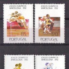 Sellos: DEPORTES - OLIMPIADA BARCELONA 92 - PORTUGAL - 4 SELLOS - S. COMPLETA - NUEVA - AÑO 1992. Lote 26348591