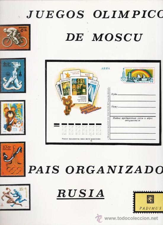 URSS/ RUSIA - JUEGO COMPLETO DE SELLOS MOSCU 80 - PAIS ORGANIZADOR - CON HOJAS - VER FOTOS - 1974/80 (Sellos - Temáticas - Olimpiadas)