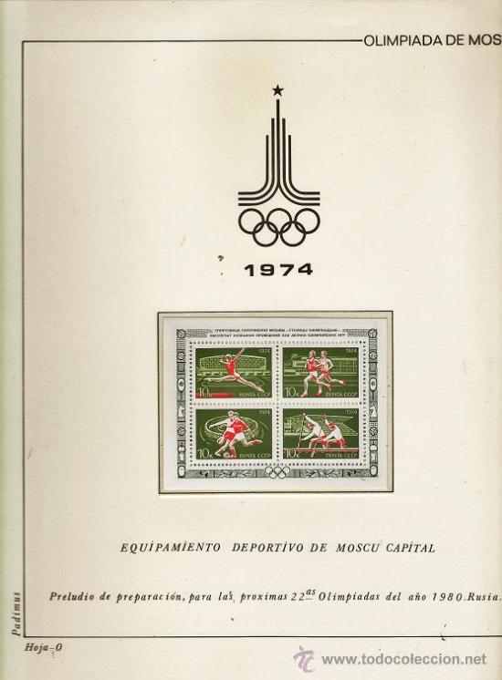 Sellos: urss/ rusia - juego completo de sellos moscu 80 - pais organizador - con hojas - ver fotos - 1974/80 - Foto 2 - 27514818