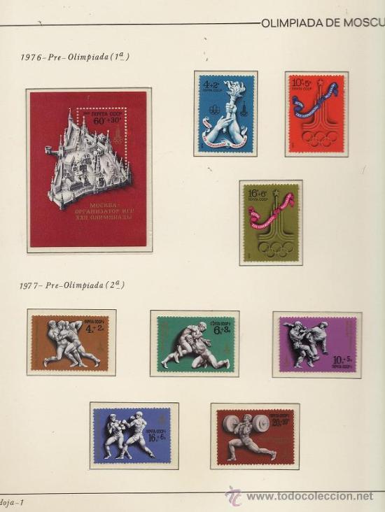 Sellos: urss/ rusia - juego completo de sellos moscu 80 - pais organizador - con hojas - ver fotos - 1974/80 - Foto 3 - 27514818