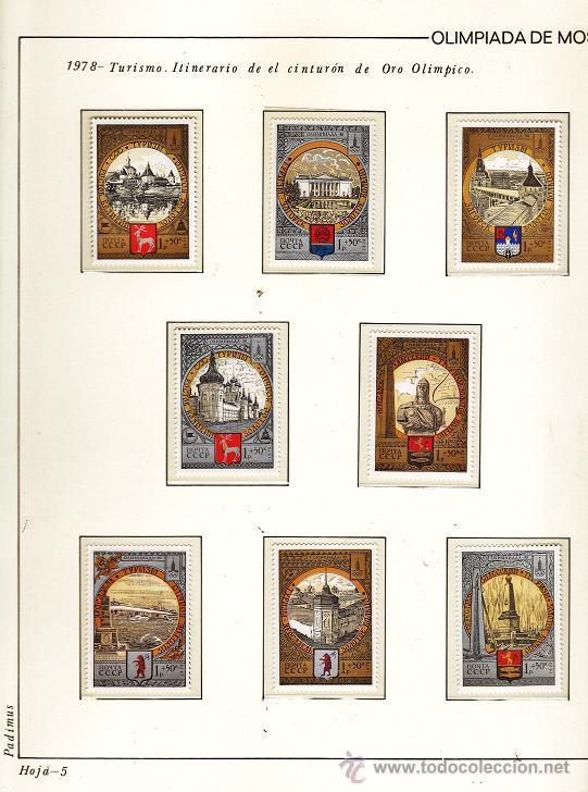 Sellos: urss/ rusia - juego completo de sellos moscu 80 - pais organizador - con hojas - ver fotos - 1974/80 - Foto 4 - 27514818