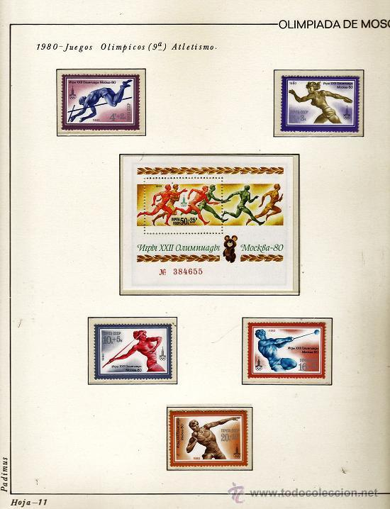 Sellos: urss/ rusia - juego completo de sellos moscu 80 - pais organizador - con hojas - ver fotos - 1974/80 - Foto 5 - 27514818