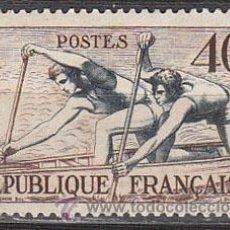 Sellos: FRANCIA IVERT 963, JUEGOS OLIMPICOS DE HELSINKI, REMO, NUEVO SIN SEÑAL DE CHARNELA. Lote 28353498